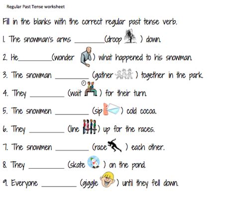 new 728 regular past tense worksheets for grade 3 tenses