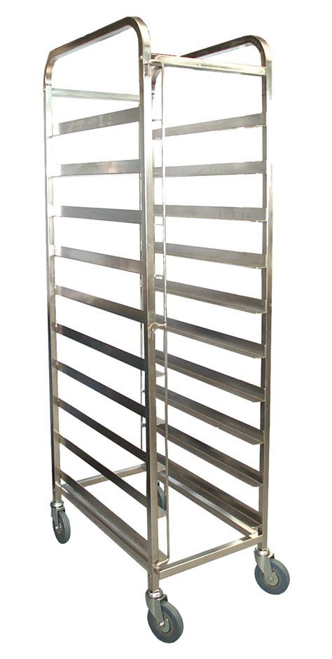 kss 10 tray mobile bakery rack trolley 18x29 concorde