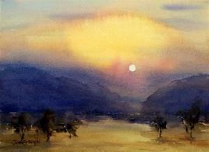 Watercolor, Paintings, Landscape, Gallery