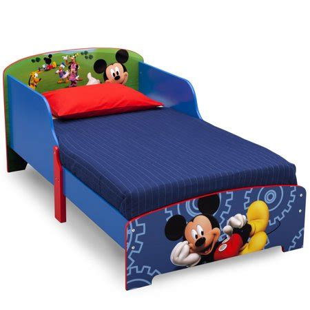 mickey mouse bed mickey mouse wooden toddler bed walmart