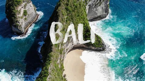 Bali Indonesia Beautiful Beaches Aerial Drone By