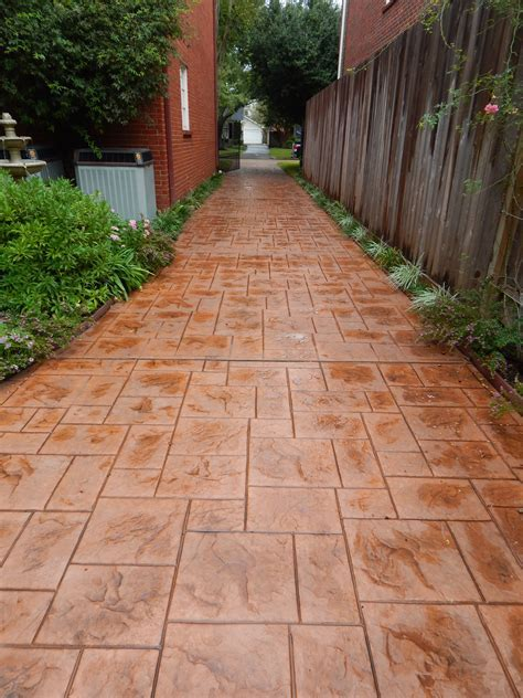 stamped concrete driveway Archives   Allied Outdoor Solutions