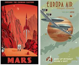 Retro space travel posters by Steve Thomas - Retro to Go