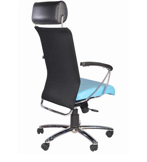 columbia high back light blue office chair in light blue