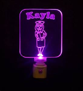 nurse night light personalized with name colored led With lamp of light nursing