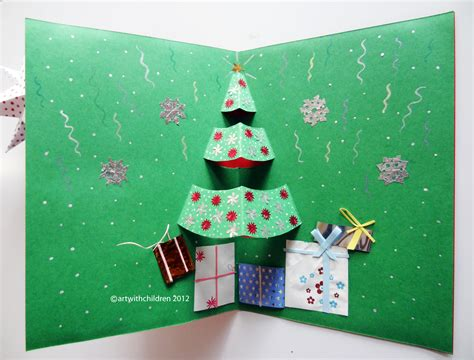 Handmade christmas cards are always special as they create so many special memories which you can cherish for years to come. CHRISTMAS TREE POP-UP CARD