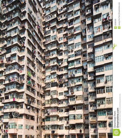 overcrowded residential building royalty  stock images image