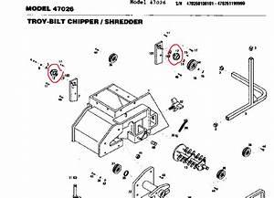 Troy Bilt  U0026tiller Parts    Troy Bilt Chipper Drive Bearing