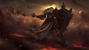 Diablo, Iii, Warrior, Shield, Armor, Games, Girls, Fantasy, Wallpapers, Hd, Desktop, And, Mobile