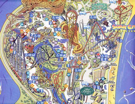 Cedar Point - 2007 Park Map