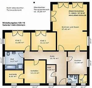 Bungalow Grundrisse 4 Zimmer : winkelbungalow 120 15 einfamilienhaus neubau massivbau stein auf stein ~ Eleganceandgraceweddings.com Haus und Dekorationen