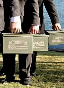 best man gift engraved ammo box personalized with name With best man wedding gifts