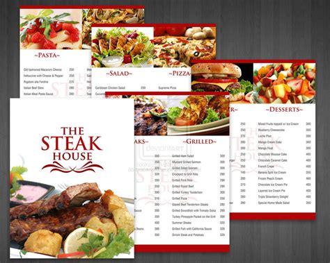 menu cuisine food menu menu printing uprinting com