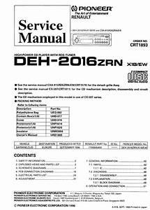 Pioneer Deh 2016 Service Manual Download  Schematics