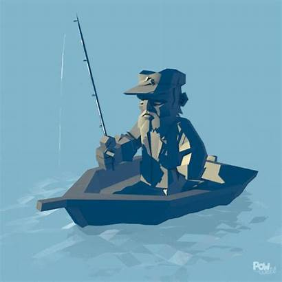 Patience Fisherman Animation Adjective Fishing Animated Gifs