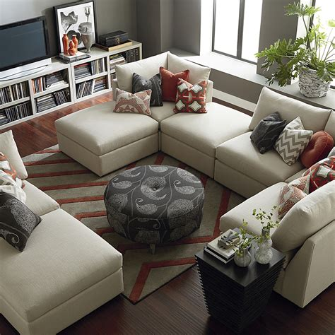u shaped sectional contemporary u shaped sectional bassett home furnishings