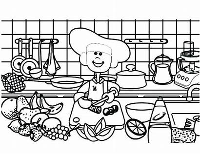 Coloring Cooking Pages Utensils Printable Getcolorings Found