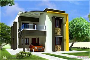 Modern, Contemporary, Home, Elevations, Kerala, Design, And, Floor