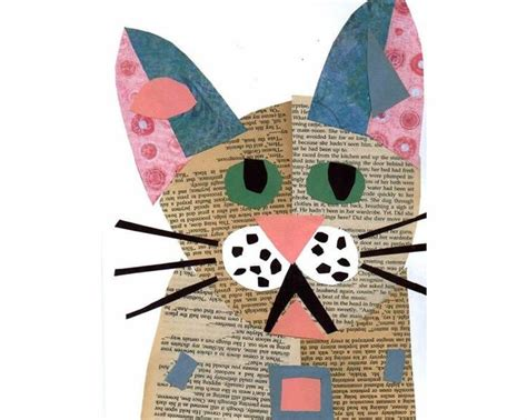 collage danimals amb paper de diari manualidades
