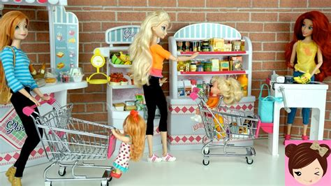 Elsa & Anna Babies Shopping At The Grocery Store