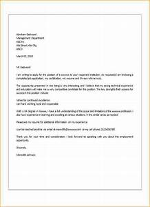 simple job application letter format With how to write a good covering letter for a job
