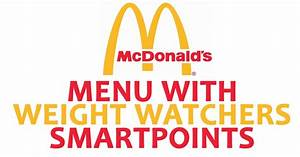 Punkte Berechnen Weight Watchers 2016 : mcdonald s menu with weight watchers smartpoints weight watchers recipes ~ Themetempest.com Abrechnung