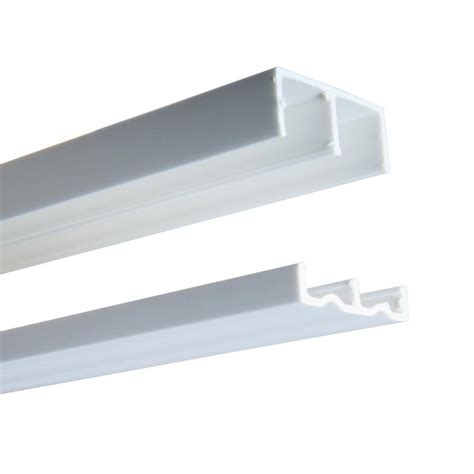 Plastic Sliding Cabinet Door Track by 2419 Series 48 In White Plastic Door Track Assembly P2419
