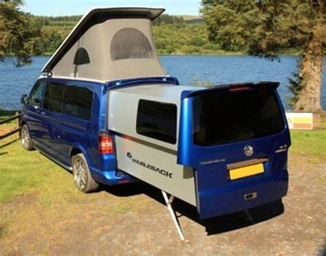 VW Transporter Turns Into A Camper With Extendable Rear