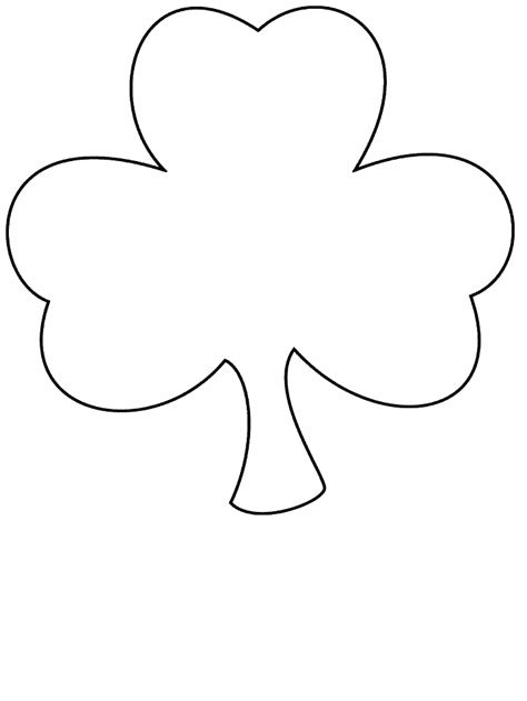 clover simple shapes coloring pages coloring page book  kids