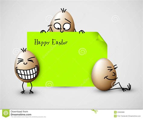 funny vector easter card  eggs royalty  stock