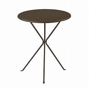 table ronde exterieure maison design wibliacom With table jardin metal ronde pliante 6 table basse pliante avec rallonge ezooq