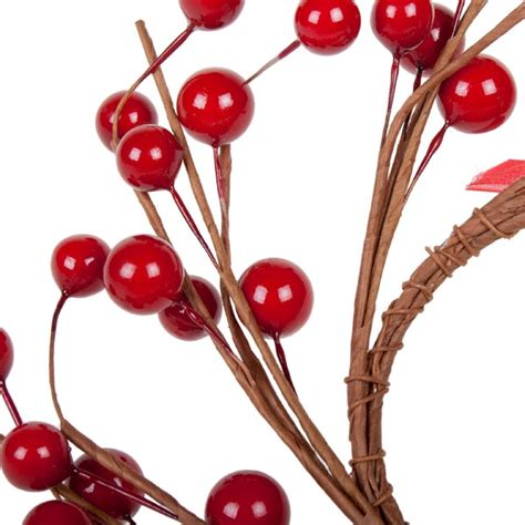 candle ring snow red berries berry candle ring 16cm decorations and supplies uk cheap decorations and