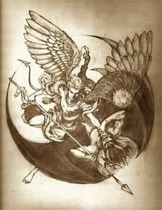 tattoo design angel vs demon - Recherche Google   creative ...