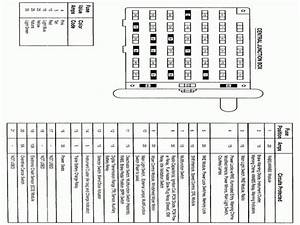 Ford Escort Fuse Box Cover Diagram 1999