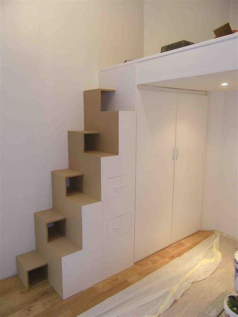 gain de place chambre les queues d 39 arondes ensemble escalier japonais