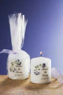 wedding favors 1 personalized candle wedding favors forget me not