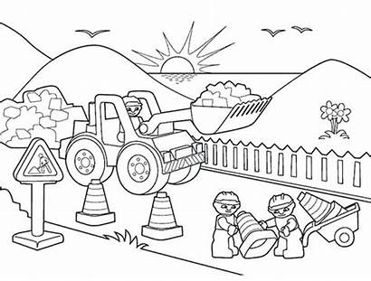Coloring Construction Pages Road Lego Trucks Coloring4free
