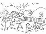 Coloring Road Pages Construction Lego Signs Drawing Winding Printable Colouring Trucks Map Sheets Truck Worker Working Crane Getcolorings Workers Getdrawings sketch template