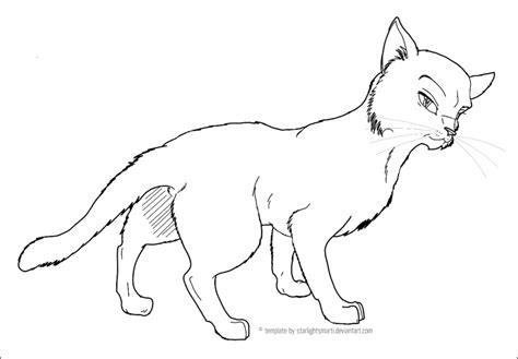 warrior cat template cat template 01 by starlightsmarti on deviantart
