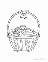 Easter Basket Coloring Pages Template Craft Clipart sketch template