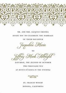 wording wedding invitations theruntimecom With wedding invitations styles and designs