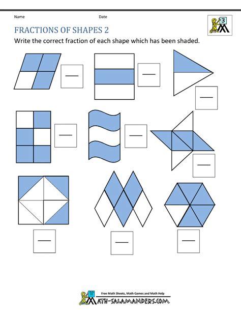 Fraction Shape Worksheets