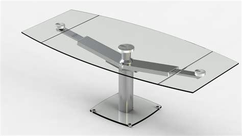 étourdissant table de cuisine en verre avec rallonge avec