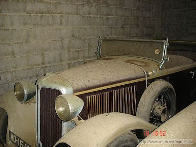 amazing barn find  antique exotic cars