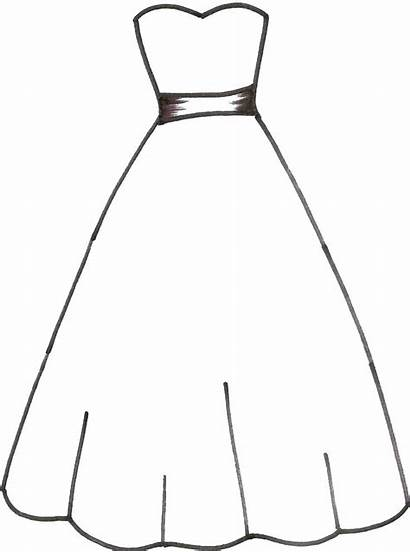Coloring Pages Dresses Printable Templates Card Printables
