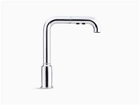 kohler purist primary pullout kitchen faucet purist single handle pullout spray kitchen sink faucet k