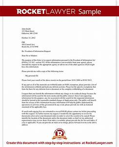 freedom of information request letter template with sample With foia request template