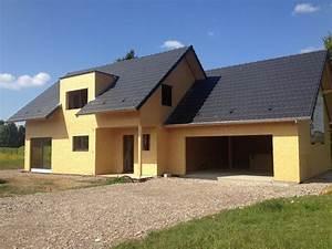 Maison Ossature Bois Toit Plat : maison deux pans en ossature bois abt construction bois ~ Melissatoandfro.com Idées de Décoration