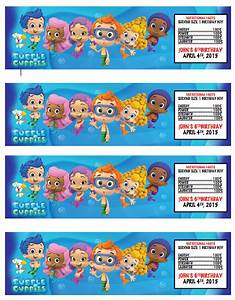 bubble guppies printable water bottle labels party by kjroxton With bubble bottle label template