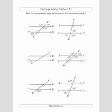 Corresponding Angle Relationships (a